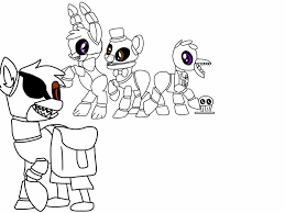 fnaf mangle coloring pages pictures of foxy mangle clipart no coloring collection