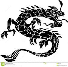 tribal chinese dragon tattoos tribal tattoo dragon stock image image 6557631