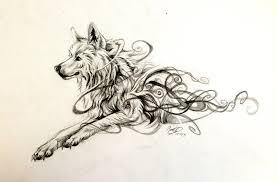 swirly wolf design by lucky978 on deviantart