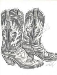 drawings of cowboy boots cowboy hat and boots by pocketdreams