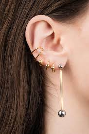 ear cuff orbit ear cuff right gold black