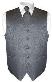 men set men s paisley design dress vest necktie color neck tie set for