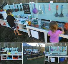 Childrens Kitchen Table by 10 Fun Outdoor Mud Kitchens For Kids Garden Ideas 1001 Gardens