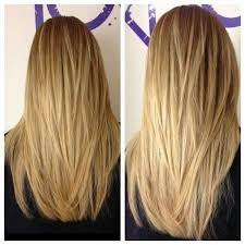 hairstyles with layered in back and longer on sides long hair with a v shape cut at the back women hairstyles layered