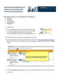 How To Send Resume Online by Optimal Resume Basic Administration How To Guide