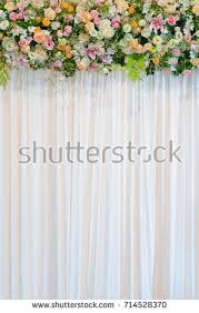 wedding backdrop background wedding decoration flower backdrop background wall stock photo