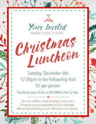 christmas lunch invitation at heart christmas luncheon lake baptist church