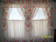 Retro Kitchen Curtains 1950s by Retro Kitchen Curtains 1950s Diner Style Four Panels Red Green