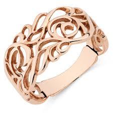 rings rose gold images Filigree ring in 10ct rose gold jpg