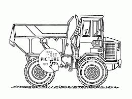 big construction truck coloring page for kids transportation
