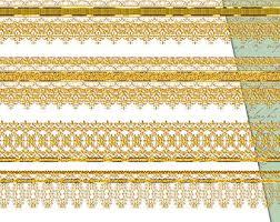 gold lace ribbon digital scrapbooking gold lace digital borders clip lace