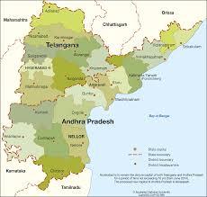 Bay Of Bengal Map Andhra Pradesh And Telangana States Cartogis Services Maps