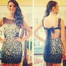 luxury short prom dress black backless evening dress cheap