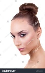 beautiful woman fresh clear skin stock photo 208966930