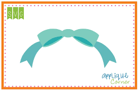 bow monogram applique corner bow monogram topper cuttable svg clipart design