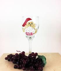 Christmas Wine Christmas Wine Glass Holiday Wine Glasses Painted Wine Glasses