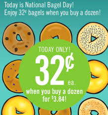 price chopper 32 bagels national bagel day today feb 9