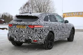 jaguar f pace 2018 jaguar f pace svr prototype shows quadruple exhaust hints at