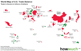 Map If Us Infographic The World Map Of The U S Trade Deficit