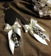 wedding cake knife set wedding cake server set with crystals knife and personalized