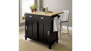 Belmont Black Kitchen Island Crate And Barrel - Black kitchen island table