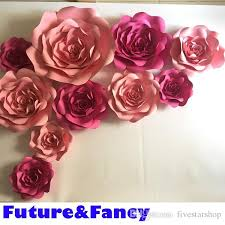 Wedding Backdrop Background 2017 Set Large Simulation Cardboard Paper Rose Flowers Showcase