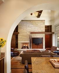 unique fireplace mantels living room modern with animal hide side