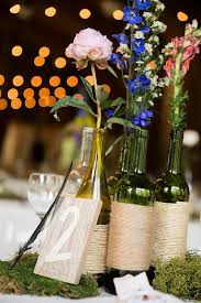 wine bottle wedding centerpieces light barn twine wrapped wine bottles wedding centerpiece deer