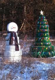 How To Use Old Tires For Decorating Recycling Tires For Winter Decorating Original Handmade Designs