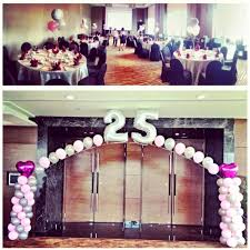 silver wedding anniversary decorations decoration for