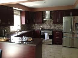 Southwestern Kitchen Cabinets Dark Brown Kitchen Cabinets With Stainless Steel Appliances