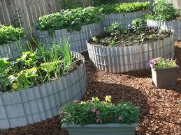 Inside Vegetable Garden by Raised Bed Vegetable Garden Design