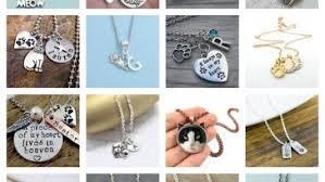 Personalized Cat Necklace Cat Jewelry U2013 Meowaf