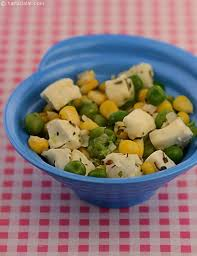 Cottage Cheese Recepies by Corn And Peas With Cottage Cheese Baby And Toddler Recipe