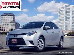 sale toyota corolla 2014 toyota corolla for sale in irving toyota of irving