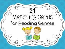 genre matching cards freebie u2022 christi fultz