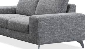 canape 3 places tissus canapé de salon design en tissu gris longueur 2 mètres