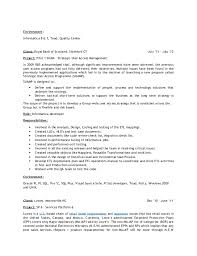 Lowes Resume Praveena Resume Lead