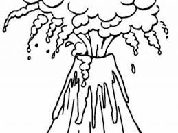 volcano coloring sheet printable volcano coloring pages for kids
