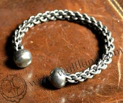 braided steel bracelet images Hand forged and braided steel torc jpg