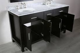 bosconi 60 inch contemporary double sink vanity white carrera