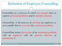 Counselling At Workplace Ppt Ma Employee Counselling