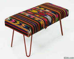 Turkish Bench Furniture Kilim Rugs Overdyed Vintage Rugs Hand Made Turkish