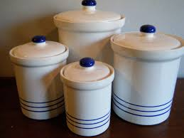 blue kitchen canister sets kenangorgun com brown