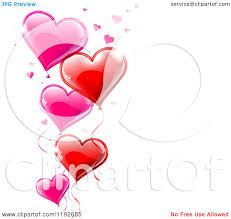 clipart of a pink and red valentines day heart balloons and