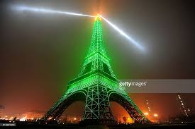 eiffel tower christmas lights replica of eiffel tower performs light show in hangzhou photos and