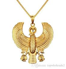 bird gold necklace images Wholesale men necklaces gold plate egyptian flying horus bird jpg