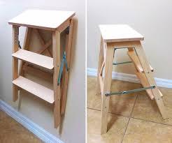 bekväm stepladder 3 steps beech folding ladder floor space