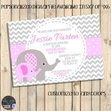 pink and grey baby shower invitations grey and pink baby
