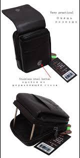 Mobile K He Fashion Leather Men Small Waist Bag Wear Belt Bag Coin Purse Strap